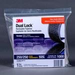 3M Dual Lock TB3560 Clear Hook & Loop Tape - Mushroom Hook with 250 stems/in Stem Count - 1 in Width x 10 ft Length - 97631
