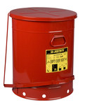 Justrite Red Steel 21 gal Safety Can - 23 7/16 in Height - 18 3/8 in Overall Diameter - 09700