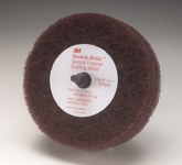 3M Scotch-Brite Aluminum Oxide Deburring Wheel - Very Fine Grade - Quick Change Attachment - 4 in Diameter - 1 1/8 in Thickness - 07443