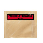 3M PLE-T1 Clear Polyethylene Label Protective Envelope - 4 1/2 in Width - 5 1/2 in Height - 73782