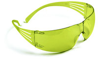 3M SecureFit SF203AF Polycarbonate Standard Safety Glasses Yellow Lens - Wrap Around Frame - 078371-65719