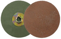 Weiler AL-tra CUT Aluminum Oxide Deburring Disc - Very Coarse Grade - Quick Change Attachment - 3 in Diameter - Style: Metal Hub - 59874