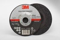 3M Standard (Type 27) Ceramic Depressed-Center Wheel - 36 Grit - Very Coarse Grade - 5 in Diameter - 7/8 in Center Hole - 1/4 in Thick - 66545