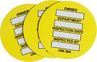 Brady Yellow Universal Tag Insert - UNI-UNI 504 YELLOW