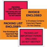"""Important Papers Enclosed"" Envelopes, 4 1/2"" x 6"" Red - 1000 PER CASE"