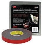 3M 06383 Black Attachment Automotive Tape - 7/8 in Width x 20 yd Length - 45 mil Thick