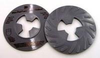 3M 5 in Ribbed Faceplate - 12,000 RPM Medium Density - 81734