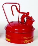 Eagle Red Galvanized Steel 2 qt Safety Can - 8 3/4 in Height - 6 3/4 in Overall Diameter - 048441-22121