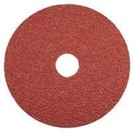 Dynabrade Coated Ceramic Fiber Disc - Medium Grade - 80 Grit - 4 1/2 in Diameter - 7/8 in Center Hole - 79328