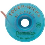 Chemtronics Soder-Wick #3 Green No Clean Flux Coating Desoldering Braid - 10 ft Length - 0.08 in Diameter - No Clean Flux Core - 60-3-10