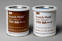 3M Scotch-Weld 1751 Gray Two-Part Epoxy Adhesive - Base & Accelerator (B/A) - 1 qt Kit - 20103