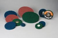 Standard Abrasives Buff and Blend 811031 HS A/O Aluminum Oxide AO Type 27 Disc - 4 1/2 in Diameter - 7/8 in Center Hole - 37667