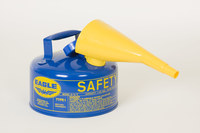 Eagle Blue Galvanized Steel 1 gal Safety Can - 8 in Height - 9 in Overall Diameter - 048441-22135