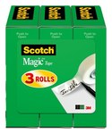 3M Scotch 810H3 Magic Clear Office Tape - 1/2 in Width x 1296 in Length - 52379