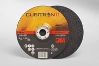 3M Cubitron II Standard (Type 27) Ceramic Aluminum Oxide Depressed-Center Wheel - 36 Grit - Very Coarse Grade - 6 in Diameter - 1/4 in Thick - 66593