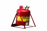 Justrite Red Steel 5 gal Safety Can - 15 7/8 in Height - 11 3/4 in Overall Diameter - 697841-14024