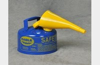 Eagle Blue 24-gauge hot dipped galvanized steel 2.5 gal Safety Can - 10 in Height - 11.25 in Overall Diameter - 048441-00468