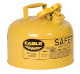 Eagle Yellow Galvanized Steel 2 1/2 gal Safety Can - 10 in Height - 11 1/4 in Overall Diameter - 048441-00447