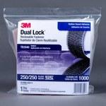 3M Dual Lock TB3540 Black Hook & Loop Tape - Mushroom Hook with 250 stems/in Stem Count - 1 in Width x 10 ft Length - 97627