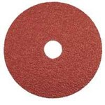 Dynabrade Coated Aluminum Oxide Fiber Disc - Very Coarse Grade - 36 Grit - 5 in Diameter - 7/8 in Center Hole - 79315