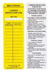 Brady Laddertag LAD-EITL521 Yellow Vinyl Ladder Tag Insert - 2 in Width - 6 1/2 in Height - 14272