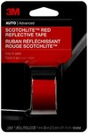 3M Scotchlite 03458 Red Reflective Automotive Tape - 1 in Width x 36 in Length
