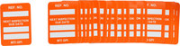 Brady Microtag Orange Vinyl Micro Tag Insert - 1 1/4 in Width - 1 7/8 in Height - Printed Text = NEXT INSPECTION DUE DATE - MIC-MTIGPI O