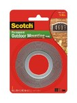 3M Scotch 4011 Foam Mounting Tape - 1 in Width x 60 in Length - 0.045 in Thick - 76274