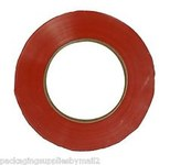 Shipping Supply Red Bag Tape - 3/8 in Width x 180 yd Length - 2.4 mil Thick - 6870