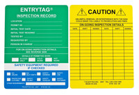 Brady Entrytag ENT-ETSI532 Green Vinyl Entry Tag Insert - 7 5/8 in Width - 5 3/4 in Height - 14266