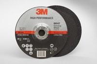 3M Standard (Type 27) Ceramic Depressed-Center Wheel - 36 Grit - Very Coarse Grade - 7 in Diameter - 7/8 in Center Hole - 1/4 in Thick - 66547