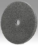 3M Scotch-Brite XL-UW Unitized Silicon Carbide Soft Deburring Wheel - Fine Grade - Arbor Attachment - 3 in Diameter - 3/8 in Center Hole - 1/4 in Thickness - 18506