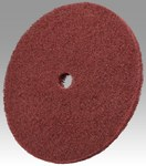 3M Scotch-Brite HS-DC Aluminum Oxide Deburring Disc - Medium Grade - Arbor Attachment - 10 in Diameter - 1 in Center Hole - 09115