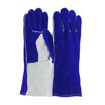 PIP 73-7250 Blue/Gray Large Split Cowhide Leather Welding Glove - 13.5 in Length - 616314-10545