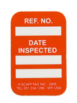 Brady Microtag Orange Vinyl Micro Tag Insert - 1 1/4 in Width - 1 7/8 in Height - Printed Text = DATE INSPECTED - MIC-MTIUSA O