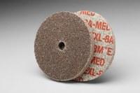 3M Scotch-Brite XL-UW Unitized Aluminum Oxide Medium Deburring Wheel - Medium Grade - Arbor Attachment - 3 in Diameter - 3/8 in Center Hole - 1/8 in Thickness - 18583