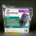 3M TB3000 Black Hook & Loop Tape - Hook & Loop with 1400 hooks/in Stem Count - 1 in Width x 10 ft Length - 97645
