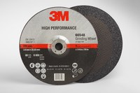 3M Standard (Type 27) Ceramic Depressed-Center Wheel - 36 Grit - Very Coarse Grade - 9 in Diameter - 7/8 in Center Hole - 1/4 in Thick - 66548
