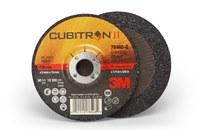 3M Cubitron II Type-Q Ceramic Aluminum Oxide Depressed Center Grinding Wheel - 4 in Dia 5/8 in Center Hole - Thickness 1/4 in - 15,300 Max RPM - 78468