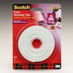 3M Scotch 4013 Foam Mounting Tape - 1/2 in Width x 150 in Length - 76271