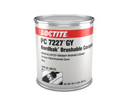 Loctite PC 7227 GY Gray Ceramic Epoxy - Liquid 2 lb Kit - Two-Part Base & Accelerator (B/A) 2.75:1 Mix Ratio - Formerly Known as Loctite Nordbak Brushable Ceramic - 98733