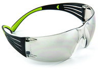 3M SecureFit 400 SF410AS Polycarbonate Standard Safety Glasses Mirror Lens - Wrap Around Frame - 078371-66213