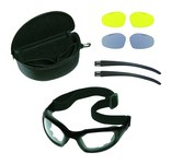 3M Maxim 40678-10000 Polycarbonate Safety Goggles Yellow Lens - Black Frame - Non-Vented - 093045-92987