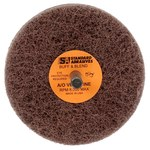 Standard Abrasives Buff and Blend 880516 GP A/O Aluminum Oxide AO Buffing Wheel - Very Fine Grade - 3 in Diameter - 1/4 in Center Hole - Shaft Attachment - 32525