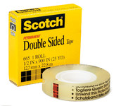 3M Scotch 6652P3436 665 Transparent Office Tape - 3/4 in Width x 1296 in Length - 99911