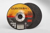 3M Cubitron II Standard (Type 27) Ceramic Aluminum Oxide Depressed-Center Wheel - 36 Grit - Very Coarse Grade - 5 in Diameter - 7/8 in Center Hole - 1/4 in Thick - 66588