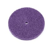 3M Scotch-Brite BF-DC Aluminum Oxide Deburring Disc - Medium Grade - Arbor Attachment - 6 in Diameter - 1/2 in Center Hole - 64145