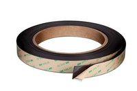 3M 605025TR Black Magnet Tape Specialty Application Tape - 1/2 in Width x 25 ft Length - 64525