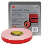 3M 06381 White Attachment Automotive Tape - 7/8 in Width x 20 yd Length - 45 mil Thick