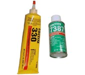 Loctite Depend 330 Amber Methacrylate Adhesive - 250 ml Kit